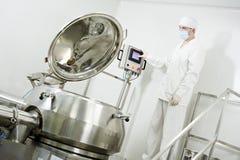 Farmaceutische fabrieksarbeider Royalty-vrije Stock Foto