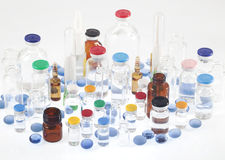 Farmaceutische flesjes Royalty-vrije Stock Foto's