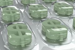 Farmaceutische Zaken - Dollarsymbool royalty-vrije illustratie