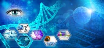 farmaceutisk forskning Arkivbilder