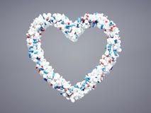 Farmaceutisk hjärtasymbol Arkivbilder