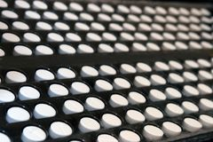 farmaceutiska pills för industri arkivbild