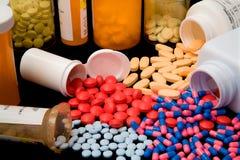 farmaceutiska produkter Fotografering för Bildbyråer