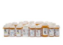 Farmaceutiska recept Arkivfoto