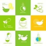 Farmaceutiska symboler Arkivfoto