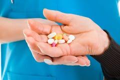 Farmaci da vendere su ricetta medica e prodotti farmaceutici Immagine Stock