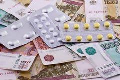 Farmaci per le note di fondo fotografia stock