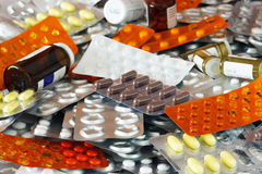 Farmaci scaduti Fotografie Stock Libere da Diritti