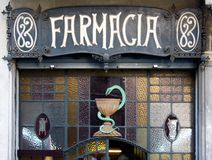 Farmacia in Barcelona Stock Photography