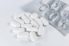 Farmacia bianca della compressa Immagini Stock