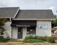 Farmacia del ` s di Funderburk, Hernando, Mississippi immagine stock