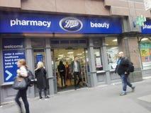 Farmacia en el Reino Unido fotografía de archivo libre de regalías