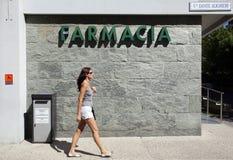 FARMACIA ITALIANA Imágenes de archivo libres de regalías