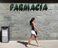 FARMACIA ITALIANA Imagen de archivo libre de regalías