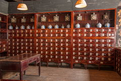 Farmacias del este de Xiangshan Tang de la puerta de Zhejiang Jiaxing Wuzhen Fotografía de archivo libre de regalías