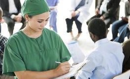 Farmaco Co di psicologia del dottore Patient Rehabilitation Counselor fotografie stock libere da diritti