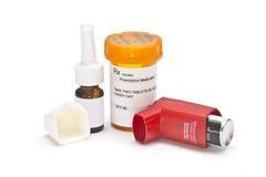Farmaco di asma Fotografie Stock