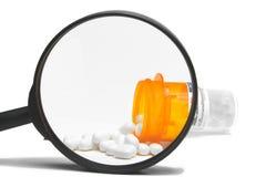 Farmaco di prescrizione ingrandetto Immagini Stock