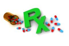 Farmaco di Rx Fotografia Stock Libera da Diritti