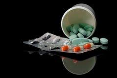 Farmaco su un fondo nero Immagine Stock
