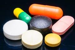 Farmaco sul nero immagine stock libera da diritti