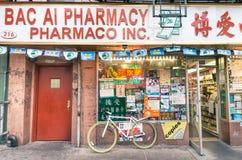 Farmacy chino en el corazón de Chinatown - Nueva York Fotos de archivo libres de regalías
