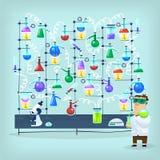 Farmakologiexperimentställning Arkivfoton
