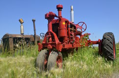 Farmall F-12 red tractor restored Royalty Free Stock Photography