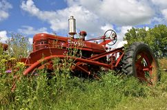 Farmall H with a front end loader Royalty Free Stock Photo