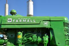 Farmall H painted green instead of red Stock Image
