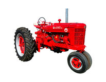 Farmall Super M Vintage Agriculture Tractor Stock Photo