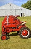 Farmall tractors lineup at threshing reunion. Stock Photo
