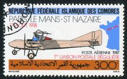 Farman biplane stock image