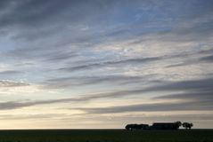 Farmbuildings perto de Usquert imagens de stock royalty free