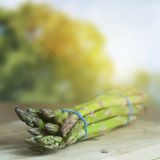Farmed Organic Asparagus Stock Photos