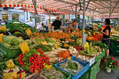 Farmer´s market. Bamberg, Germany Stock Images