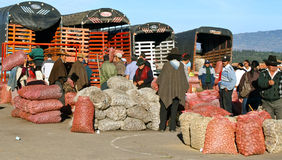 Farmer´s market, Villa de Leyva, Colombia Royalty Free Stock Photo