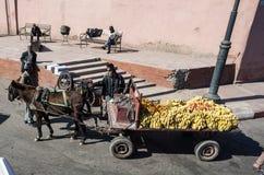 Farmer που πωλεί τα φρούτα του από τη μεταφορά Στοκ Φωτογραφίες