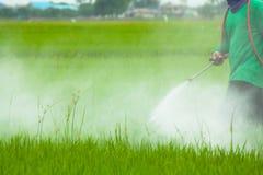 Farmer που ψεκάζει το φυτοφάρμακο στοκ εικόνες με δικαίωμα ελεύθερης χρήσης