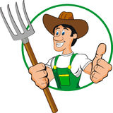 Farmer. Man cartoon isolated on withe Royalty Free Stock Photography