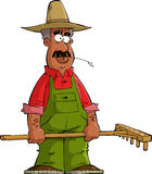 Farmer. On a white background vector Stock Images