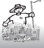 Farmer. Hand drawn image of a farmer Stock Photography