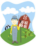 Farmer royalty free illustration