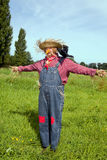 Farmer acting as  scarecrow Stock Images