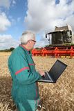 Farmer And Technology Royalty Free Stock Images
