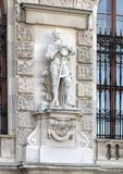 Farmer with Broken Chains by Anton Paul Wagner, Neue Burg or New Castle, Vienna, Austria. Pictured is one of twenty statues on the façade of the Neue Burg stock photo