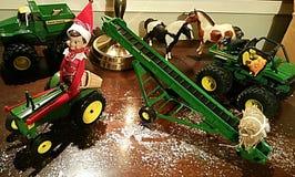 Farmer Buddy Elf on the Shelf Stock Image