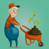 Farmer cartoon character. Royalty Free Stock Image