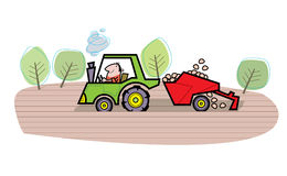 Farmer cartoon illustration Stock Photo