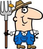 Farmer cartoon illustration Royalty Free Stock Images